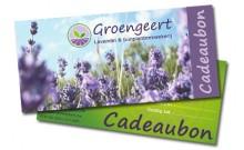 De Groengeert Cadeaubon (Groengeert kadobon), steeds leuk en origineel om te schenken en te krijgen.